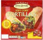 Discovery Chilli & Jalapeno or Soft Corn Tortillas & Garlic & Coriander Soft Flour Tortillas (8 packs) 2 for £2 Also Old El Paso Soft Corn or Whole Wheat Tortillas 3 for £3 @ Tesco