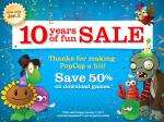 50% off (almost) all popcap pc games @popcap.com