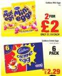 Mini Eggs 100g 2 for £2/ Creme eggs x6 £2.29 @ Netto from 3rd January