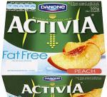 Activia Fat Free Peach Yogurt or Strawberry (4 x 125g) £1 each pack @ Netto