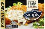 Birds Eye Simply Extra Large Fish Fillets in Batter (2 per pack - 320g) was £2.99 now £1.49 @ Sainsburys