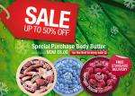 free delivery back on with 50% sale @the body shop