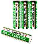 "7dayshop Rechargeable Ni-Mh Batteries - AA Cell Size (2100 mAh) ""GOOD TO GO"" - Pack of 4 in FREE Case - LIMITED SPECIAL !! - £4.59 inc delivery @ 7dayshop.com"