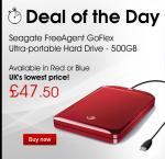 Seagate FreeAgent GoFlex Ultra-portable Hard Drive - 500gb £47.50 Dixons
