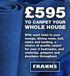 Carpet Your Whole House (Up to 80sqm) for £595 including underlay etc. @ Franks The Flooring Store