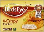 Birds Eye Crispy Chicken (4 per pack - 360g) was £2.99 now £1.49 @ Sainsburys
