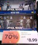 Star Wars Four Packs Of Figures - Instore Sainsburys - Were £29.99 now £8.99