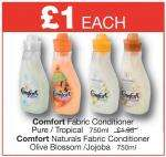 OneStop - Comfort Fabric Conditioner / Comfort Naturals Fabric Conditioner 750ml - £1.00 INSTORE