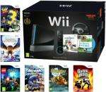 Nintendo Wii Black Console Bundle including Black Steering Wheel + Wii MotionPlus + 9 Games @ Play.com