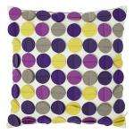 purple felt polka cushion 6.21 delivered 73% off at Debenhams