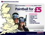 £5 -- UK-Wide Paintball Day inc Gear, Balls & Lunch, 75% Off