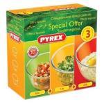 Pyrex 3 Piece Bowl Set 0.5L, 1.0L & 2.0L Bowls £5 @ Asda instore