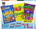 Wotsits/ Monster Munch/ Quavers 10pack £1 @ Netto from Thurs 20th