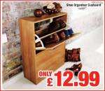 Shoe Storage Cupboard - 12.99 at Netto