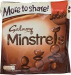 Big 'More to Share Bags' Galaxy Minstrels (290g), Maltesers (230g), M&M's (315g) £2 @ Tesco