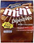 McVitie's Mini Milk Chocolate Digestives - 6 x 25g bags in each pack - 75p at Sainsburys