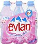 Evian Natural Still Mineral Water (6 x 500ml) BOGOF @ Tesco £2.13 (works out less than 18p a bottle)