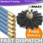 "QUALITY ""bailey bros"" blue's chimney sweep set £18.46 @ BAMFORD TRADING .. (as it's stove season)"