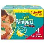 Pampers Baby-Dry Size 4 Maxi Nappies - 2 x Jumbo Packs of 82 (164 Nappies)