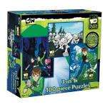 Ben 10 Alien Force Triple Jigsaw Puzzle Pack (Three puzzles x 100 Pieces Each) £3.89 at Amazon