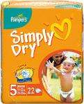 Pampers Simply Dry Nappies Sizes 3,4,5 buy 2 for £10.00 @ Sainsburys