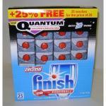 25 Finish Quantum powerball Dishwasher Tablets £1.99 at B&M Bargains RRP £6