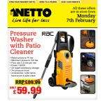 Pressure washer with Patio Cleaner - £ 59.99 @ Netto