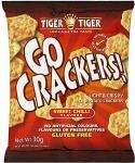Tiger Tiger Go Crackers Sweet Chilli /BBQ/Sour Cream & Chives Flavours Gluten Free (30g) 55p any 3 for £1.00 @ Sainsburys