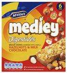 McVitie's Medley Hazelnut & Chocolate Digestives, McVitie's Medley Hobnob Raisin & Chocolate & McVitie's Medley Hobnobs Peanuts & Milk Chocolate Chips (6 x 30g) £1 at Tesco