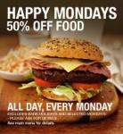 delicious slug and lettuce meal. Get ANYTHING of the menu and get 50% of your food bill!!! Every Monday (Valentines people)!!!