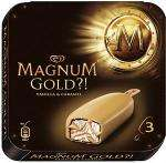 Wall's Magnum Gold (3x110ml) £2.59 at Sainsburys, But One Get One Free