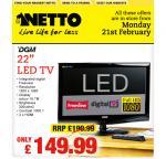 "22"" LED TV £ 149.99 @ Netto"