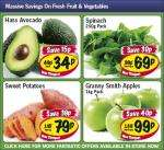Lidl - Hass Avocado 34p/ Spinach 250g 69p/ Sweet potatoes 79p/kg/ Granny Smith Apples 1kg 99p
