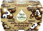 Yeo Valley Organic Milk Chocolate Mousse (4 x 60g) Normal price £1.50 any 3 for £3.00 @ Asda