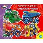 Galt Shaped Puzzles - Construction Vehicles (Set of 4) only £2.84 delivered @ Amazon