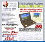Allfine mini netbook £59.95+£6.95 delivery @Ijt
