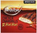 Birds Eye 100% Breast Peri Peri Chicken Chargrills (2 per pack - 184g) £1.50 BOGOF at Tesco