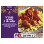 Tesco Hot Chicken Jalfrezi And Pilau Rice 550G  £3.20 BOGOF