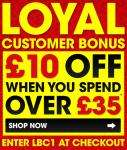 £10 off when you spend over £35 at M and M Direct
