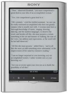 Sony PRS350 Silver eBook Reader Brand New for £99.99 delivered @ebay daily deals.