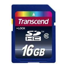Transcend 16GB SDHC Class 10 Memory Card £14.45 + £2.00 shipping @ Amazon / Stamford Components