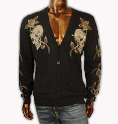 Ed Hardy Mens Knitwear Tiger Buttoned Cardiagn DEAL £39.99 @ ebay store