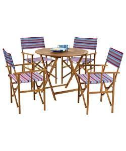 Summer Stripe Directors Chair Set Was£99.99 NOW ONLY £39.99@argos