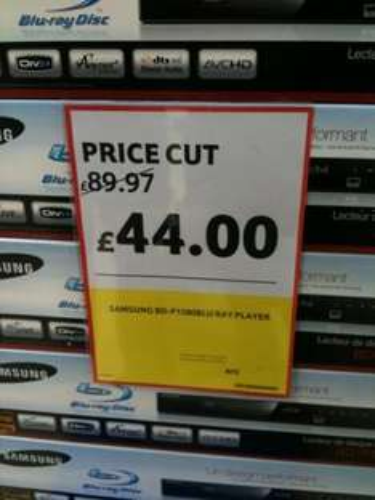 Samsung BD-P1580 - Blu Ray Player - £44 *Instore* @ Tesco