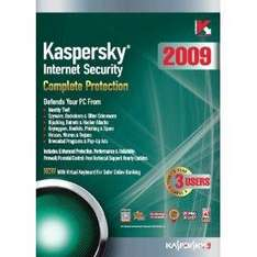 Kaspersky Internet Security 2009 (Upgrades to 2011) - 3 Users 1 Year - £9.99 delivered (Through Amazon - UK Supplies. ).
