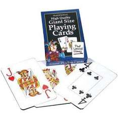 Giant Sized Playing Cards were £4.99 now £1.49 delivered Save 70% @Amazon.co.uk