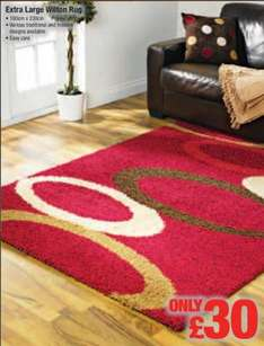 Extra large wilton rug £30 @ netto