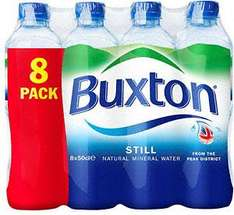 Buxton Natural Still Mineral Water (8 x 500ml) Two Packs for £3 @ Asda (18p a bottle)