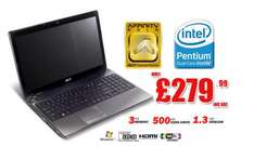 """Acer Aspire 5741Z 15.6"""" Windows 7 Home Premium Pentium Dual Core (P6000) 1.86GHz 3GB 500GB 15.6 LED HD £279.99 delivered @ Oyyy / Ebay"""