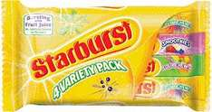Mars Starburst Fruity Chews Variety Pack (4 x 45g) & Maynards Wine Gums (4 x 52g) £1 each at Sainsburys & Asda